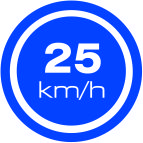 25 km speed